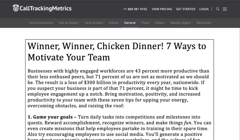 CallTrackingMetrics: Winner Winner Chicken Dinner