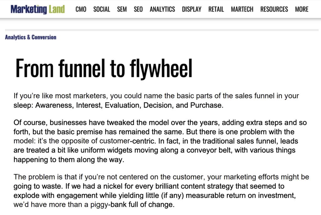 MarketingLand: Funnel to Flywheel