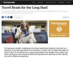 Entrepreneur: Travel Reads for the Long Haul